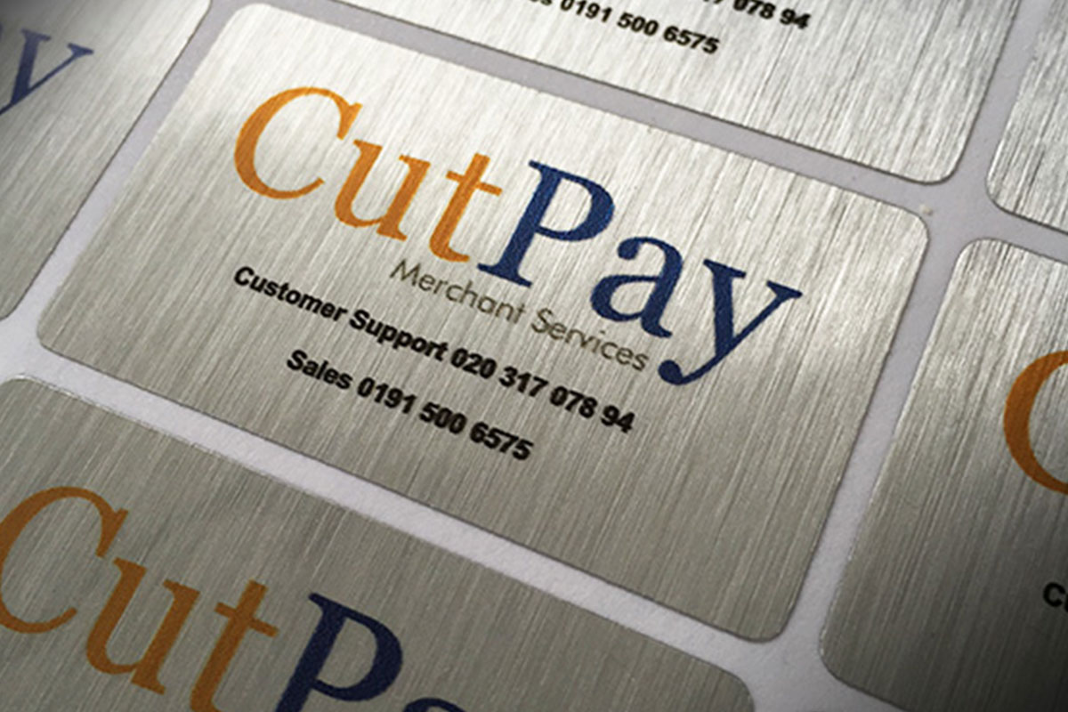 Brushed Aluminum Labels