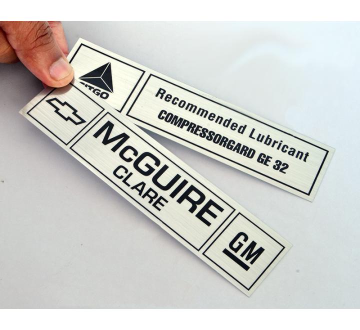 Custom Brushed Aluminium Labels