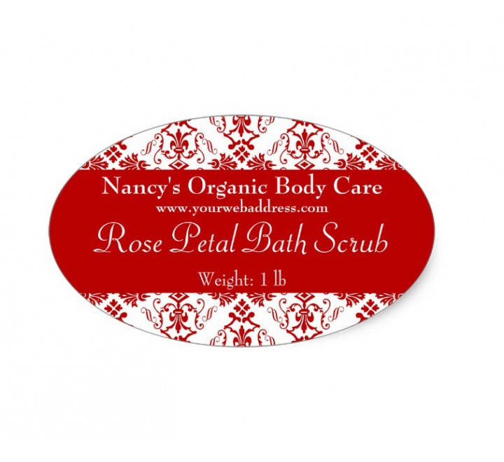 Oval Bath & Beauty Labels