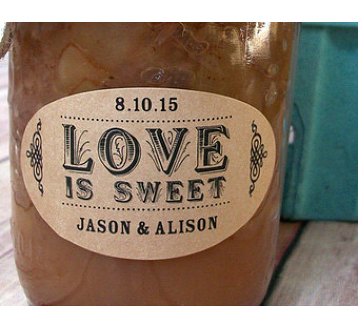 Oval Jar Labels