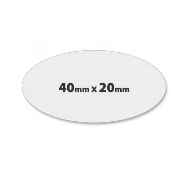 Oval paper labels