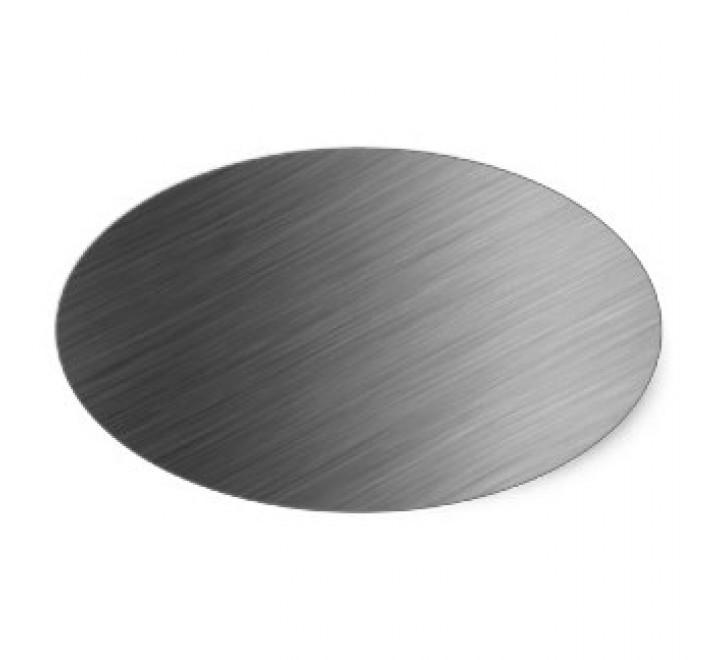 Oval Brushed Aluminium Labels