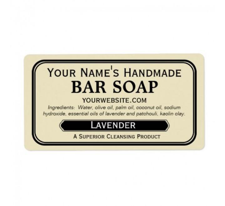 Rectangle Soap Labels