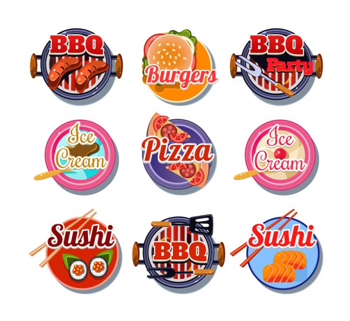 Round Food Labels
