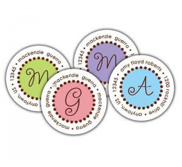 Round Household Labels