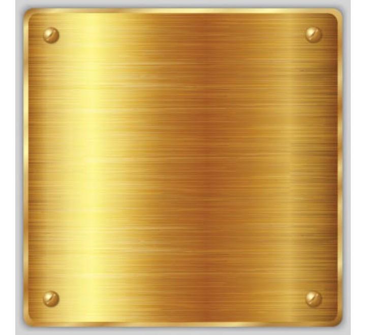 Gold Metallic Square Labels