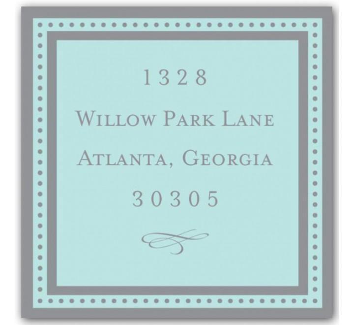 Square Return Address Labels