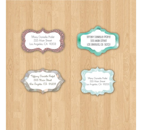 Die Cut Bath & Beauty Labels
