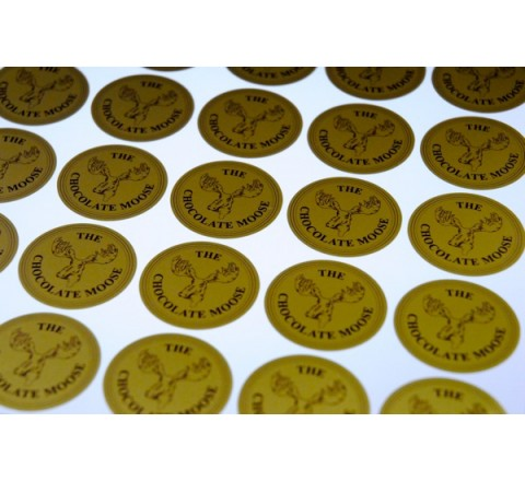 Custom Metallic Gold Labels