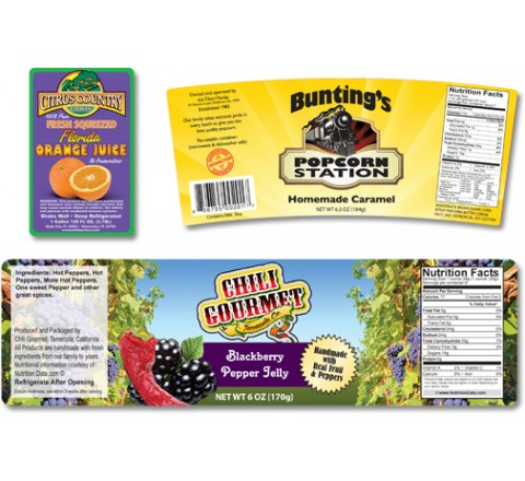 Oval Product Labels