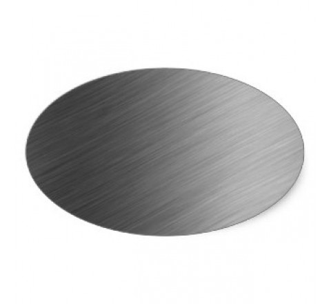 Oval Brushed Aluminium Labels