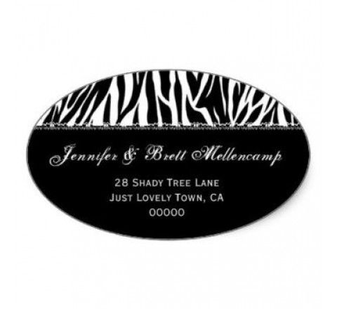 Oval Return Address Labels