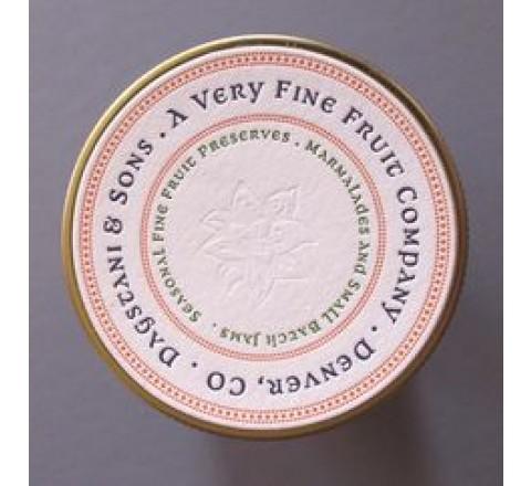 Round Letterpress Printed Labels