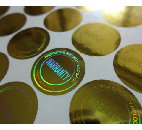 Round Block-out Vinyl Labels (Glossy)