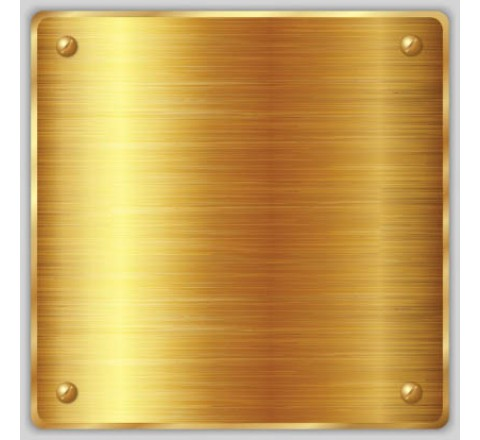 Gold Metallic Square Labels