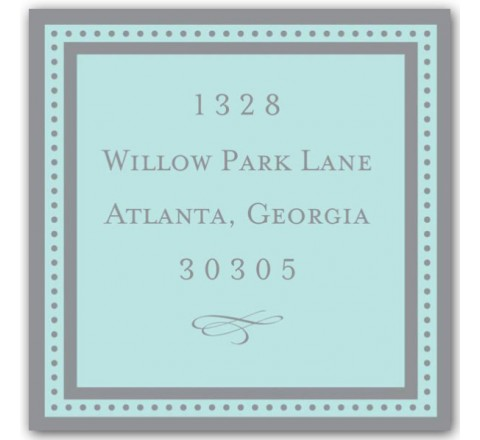 Square Return Address Labels